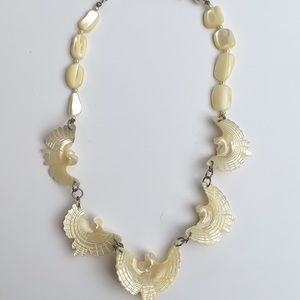 Mother of Pearl Eagle Necklace